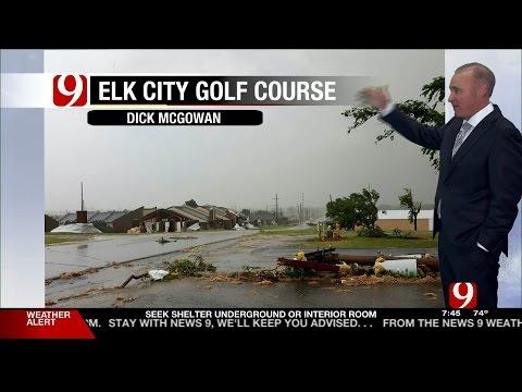 5/16/17 Tornado Warning & Hail Storms In Oklahoma