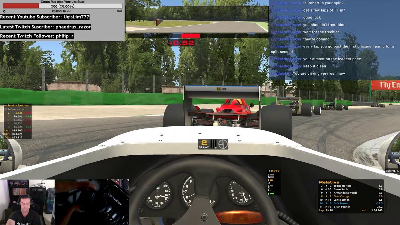 iRacing - Lotus 79 - Monza - Good Fun Monza Games - YouTube