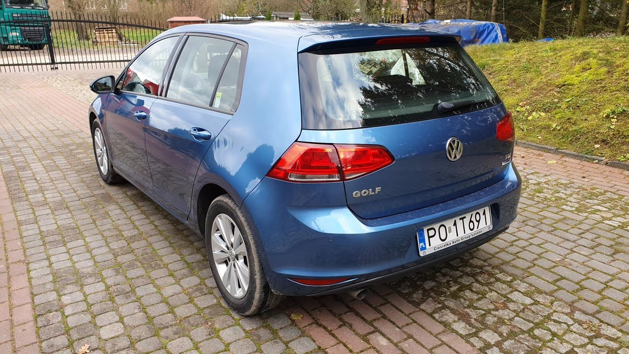 VW Golf VII 7 2016r  1.6 TDI 110HP Bluemotion Review LA5J Pacyfic Blue Review