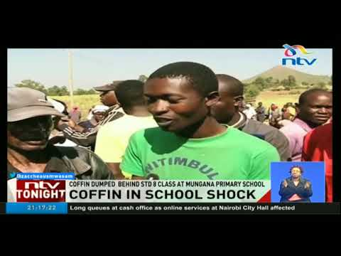 Coffin and body found in Kakamega school