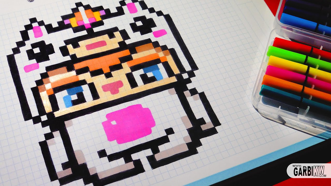 Dessin De Licorne En Pixel Art