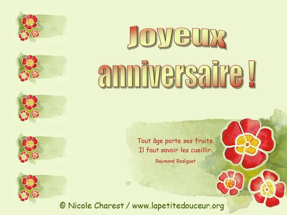Carte De Bon Anniversaire