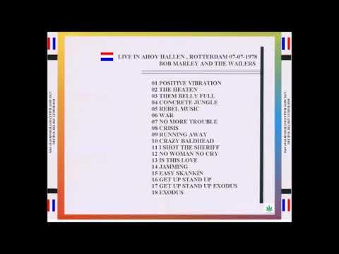 Bob Marley, 1978-07-07, Live At Ahoy Hallen, Rotterdam, Netherlands