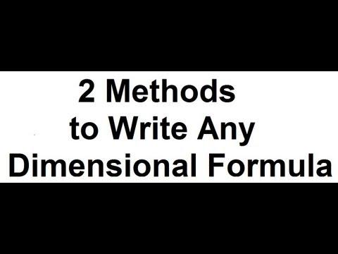 2 METHODS (TRICKS) to WRITE DIMENSIONAL FORMULA  in PHYSICS | DIMENSIONAL
