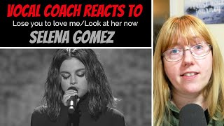 Vocal Coach Reacts To Selena Gomez 'lose You To Love Me/look At Her Now' #whatwentwrong Ama's