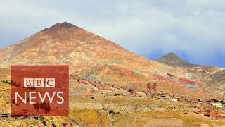 'The mountain that eats men' in Bolivia - BBC News