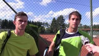 Michal Franěk a Tomáš Musil po prvním kole deblu na turnaji Futures v Pardubicích