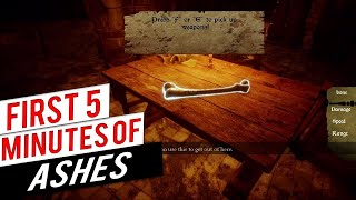 FIRST 5 MINUTES OF ASHES | Ashes Gameplay