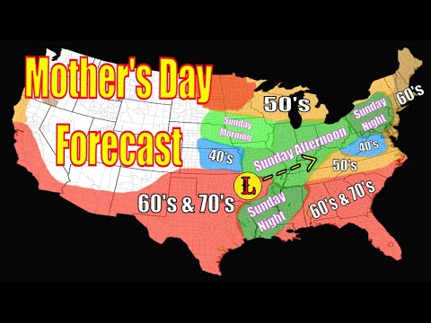 Mother's Day Weather Forecast - Hurricane Season 2021 Outlook - The WeatherMan Plus Weather Channel