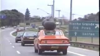 Descendo a serra pela rodovia Anchieta em 1988 / Santos