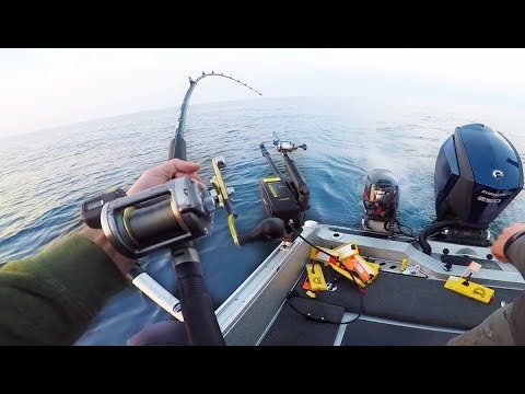 Fighting Fish Out Of 150ft Of Water - (INTENSE FISHING)