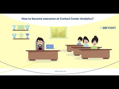 How to become awesome at Contact Center Analytics?  | Servion Global Solutions