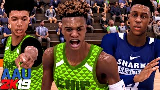 Bronny James, Mikey Williams & The Blue Chips Vs EMONI BATES! AAU 2K19 Gameplay!