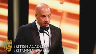 Download Vin Diesel's Heart-Warming Tribute to Jackie Chan | 2019 BAFTA Britannia Awards Mp3 and Videos