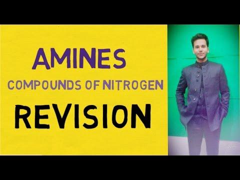 Amines: NItrogen compounds REVISION