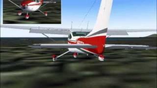 Landing my Cessna 182Q at Alsek River A57, Yakutat, Alaska, USA. VFR Flight.