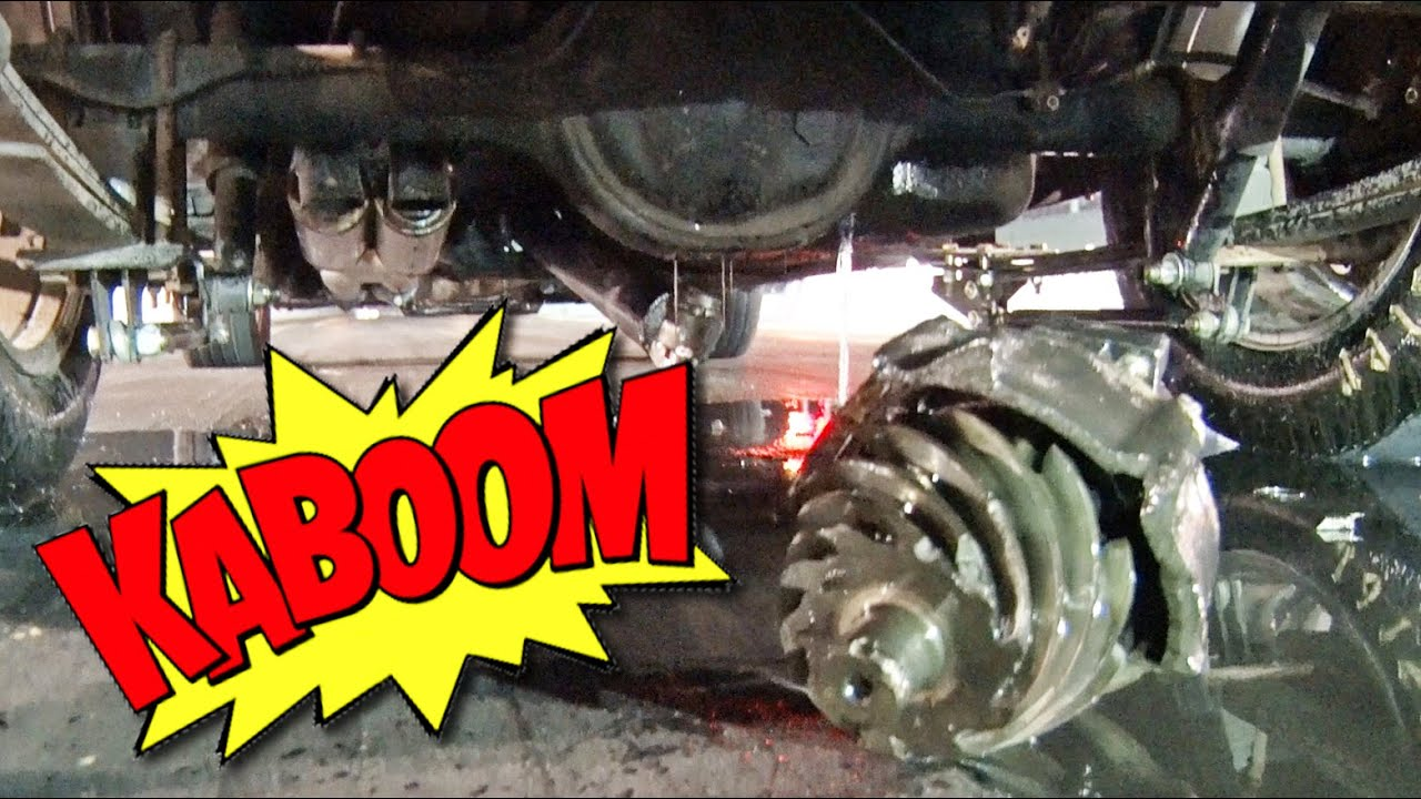 Differential EXPLODES at Drag Strip! - YouTube