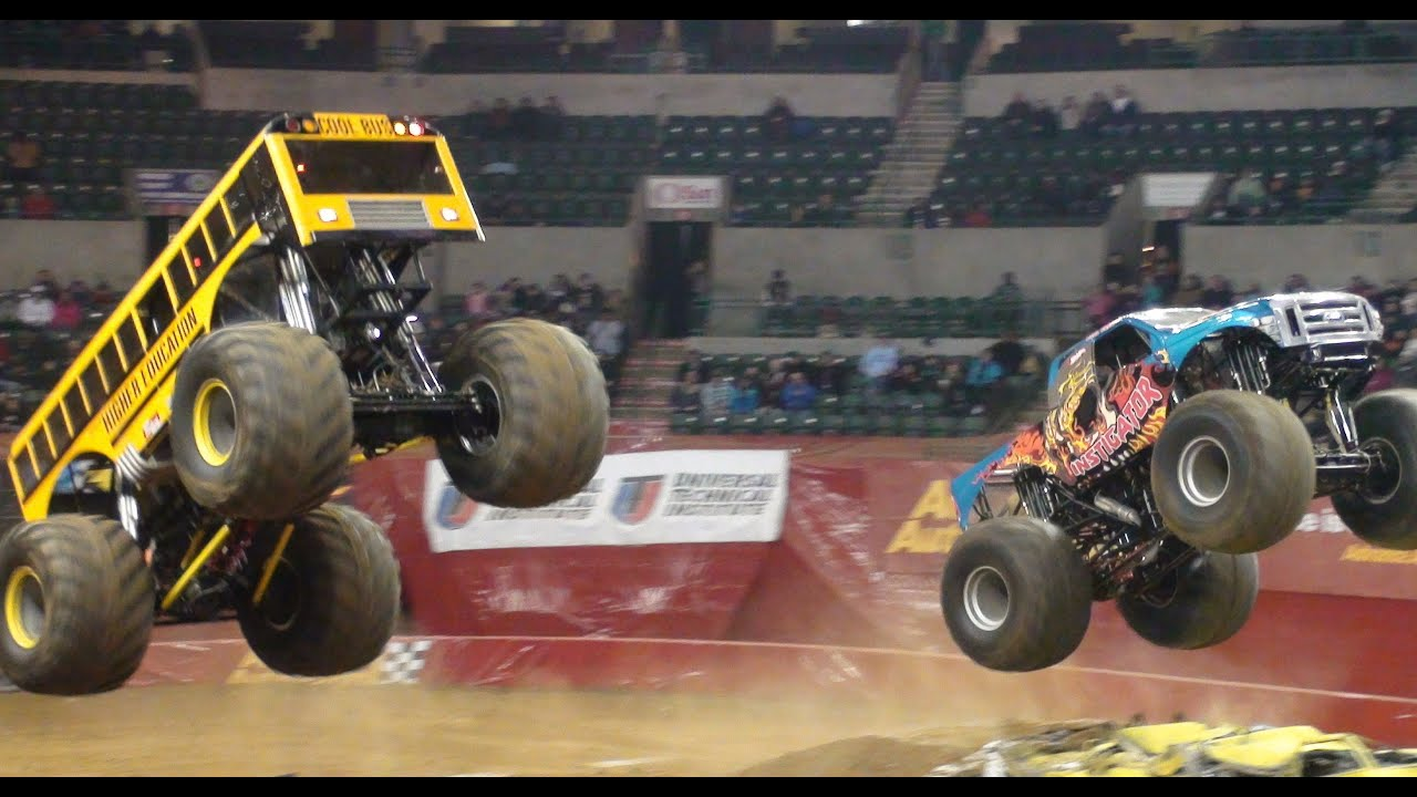 School Bus Monster Truck Instigator Monster Jam Sun National