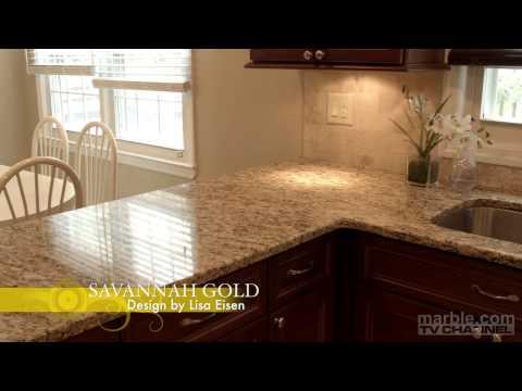 Savannah Gold Granite Kitchen Design by Lisa Eisen | Marble.com