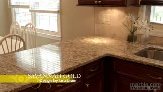 Savannah Gold Granite Kitchen Design by Lisa Eisen | Marble.com(, 2014-08-19T14:44:45.000Z)