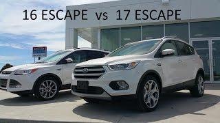 2016 Ford Escape  vs 2017 Escape - Comparison & Walk Around