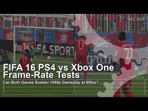 Сравнение качества текстур и частоты FPS игры FIFA 16 на Xbox One и Playstation 4