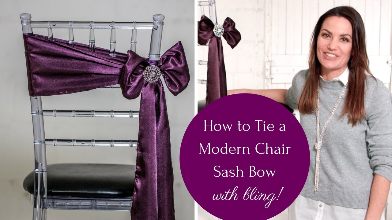 How to Tie a Chair Sash - The Angled Bow Method - Easy and Stylish  sc 1 st  YouTube & How to Tie a Chair Sash - The Angled Bow Method - Easy and Stylish ...