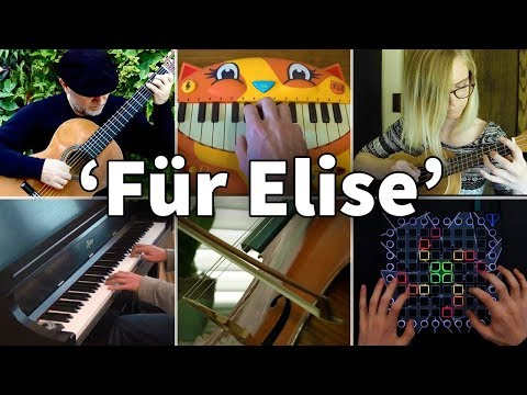 Who Played It Better: Für Elise Beethoven (Piano, Guitar, Cat Piano, Cello, Launchpad, Ukulele)