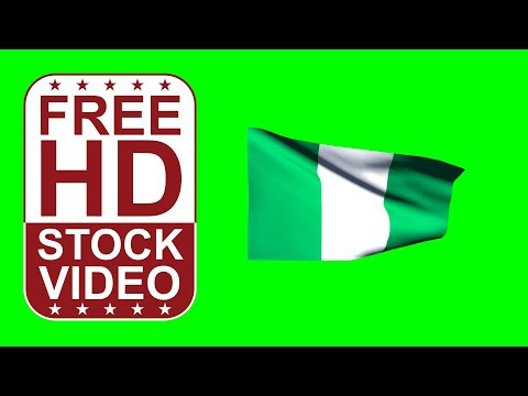 FREE HD video backgrounds – Nigeria flag waving on green screen 3D animation
