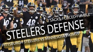 Steelers Defensive Highlights vs Vikings // LOCKDOWN // 9.17.17