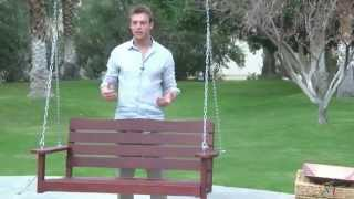 Cape Maye Weathered Porch Swing In Barn Red - Product Review Video