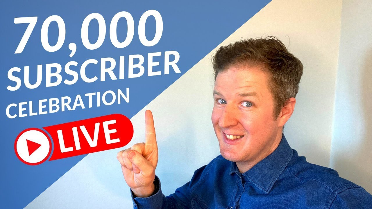 70K Subscribers Live Announcement!