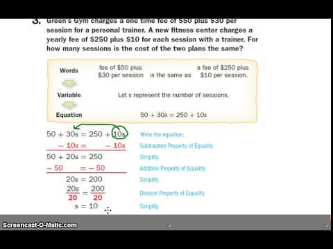 Lesson 4 Solve Equations W Variables On