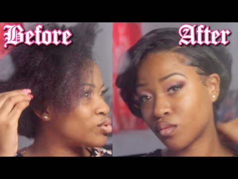 FLAT IRON ROUTINE| Short Hair