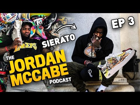 Sneaker Artist Sierato Tells EPIC STORIES About Meeting Shaq & Zion! Opens Up With Jordan McCabe!