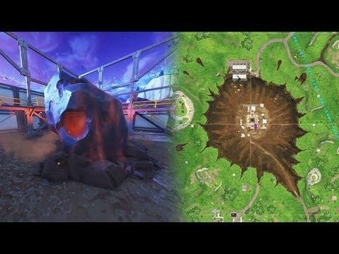 """Fortnite Dusty Depot Meteor """"Fortnite Meteor Hitting Ground"""" (Fortnite Dusty Depot Meteorite)"""