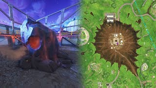 "Fortnite Dusty Depot Meteor ""Fortnite Meteor Hitting Ground"" (Fortnite Dusty Depot Meteorite)"