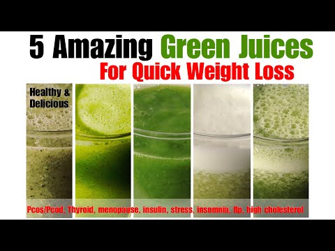 5 Green Juices Recipes | Weight Loss| How To Make Moringa, Lauki, Cucumber, Spinach Juice| In Hindi