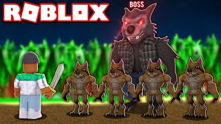 "ME VS THE LEVEL 100 ""WEREWOLF BOSS"" IN ROBLOX SLAYING SIMULATOR thumbnail"