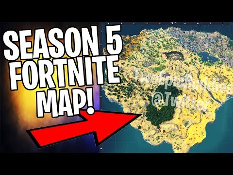 "LEAKED SEASON 5 FORTNITE MAP COMING IN A FEW DAYS! ""Fortnite Desert Map!"""
