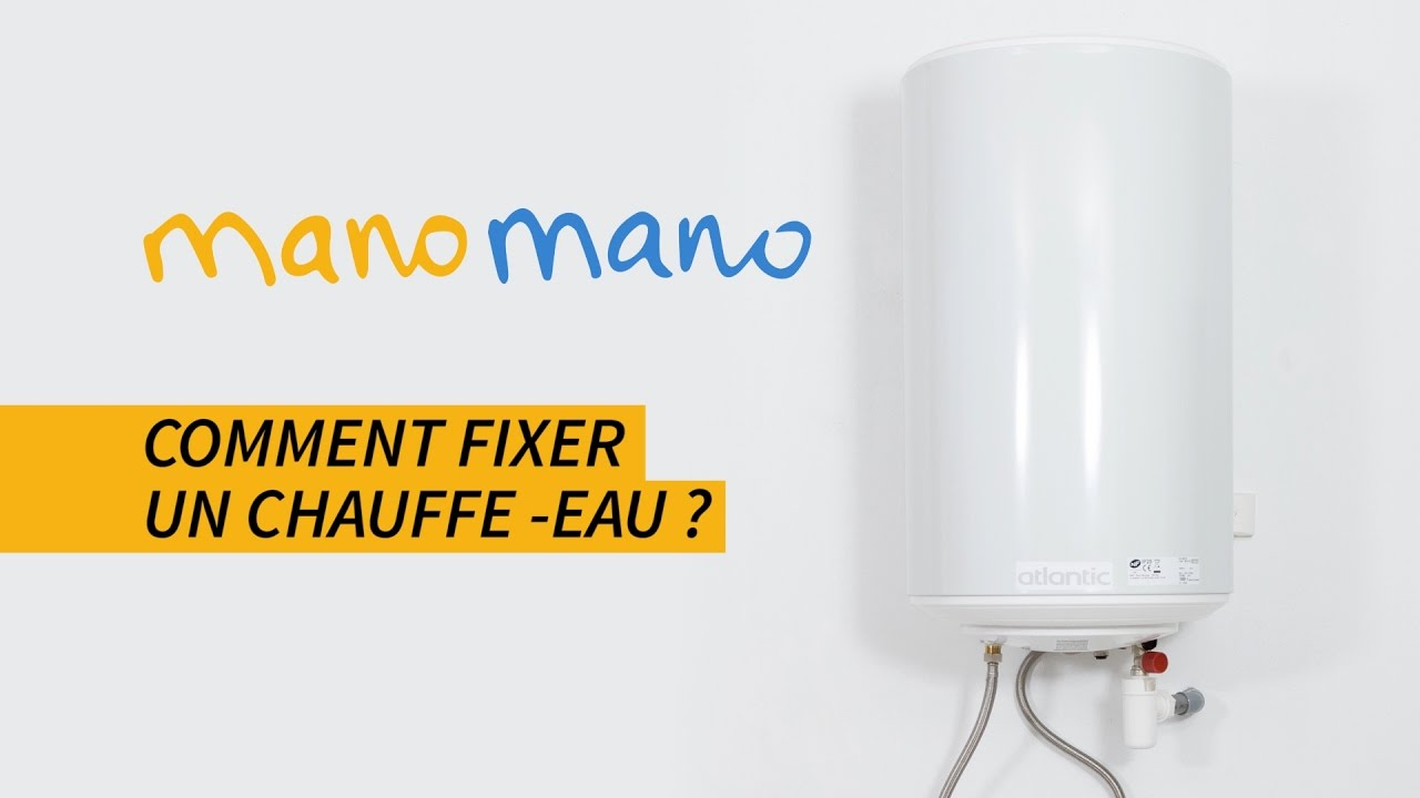 comment accrocher un chauffe eau electrique au mur tutoriel plomberie manomano