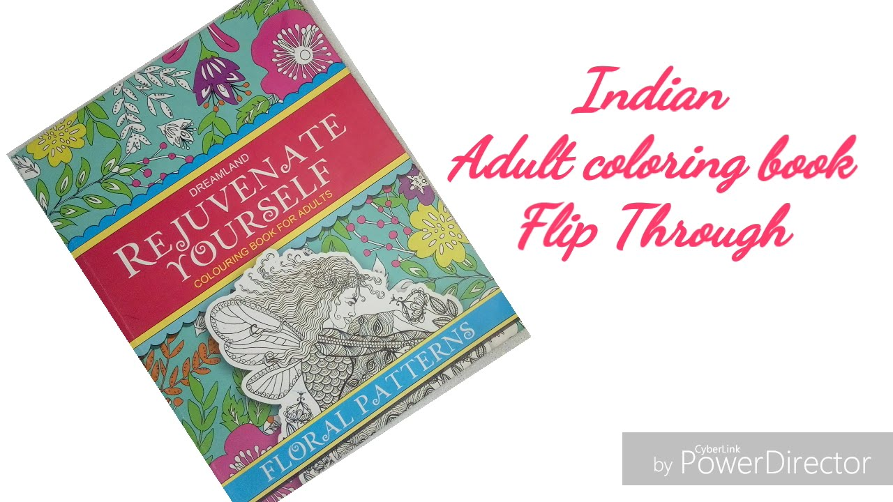 Indian Adult Coloring Book Review And Flip Through