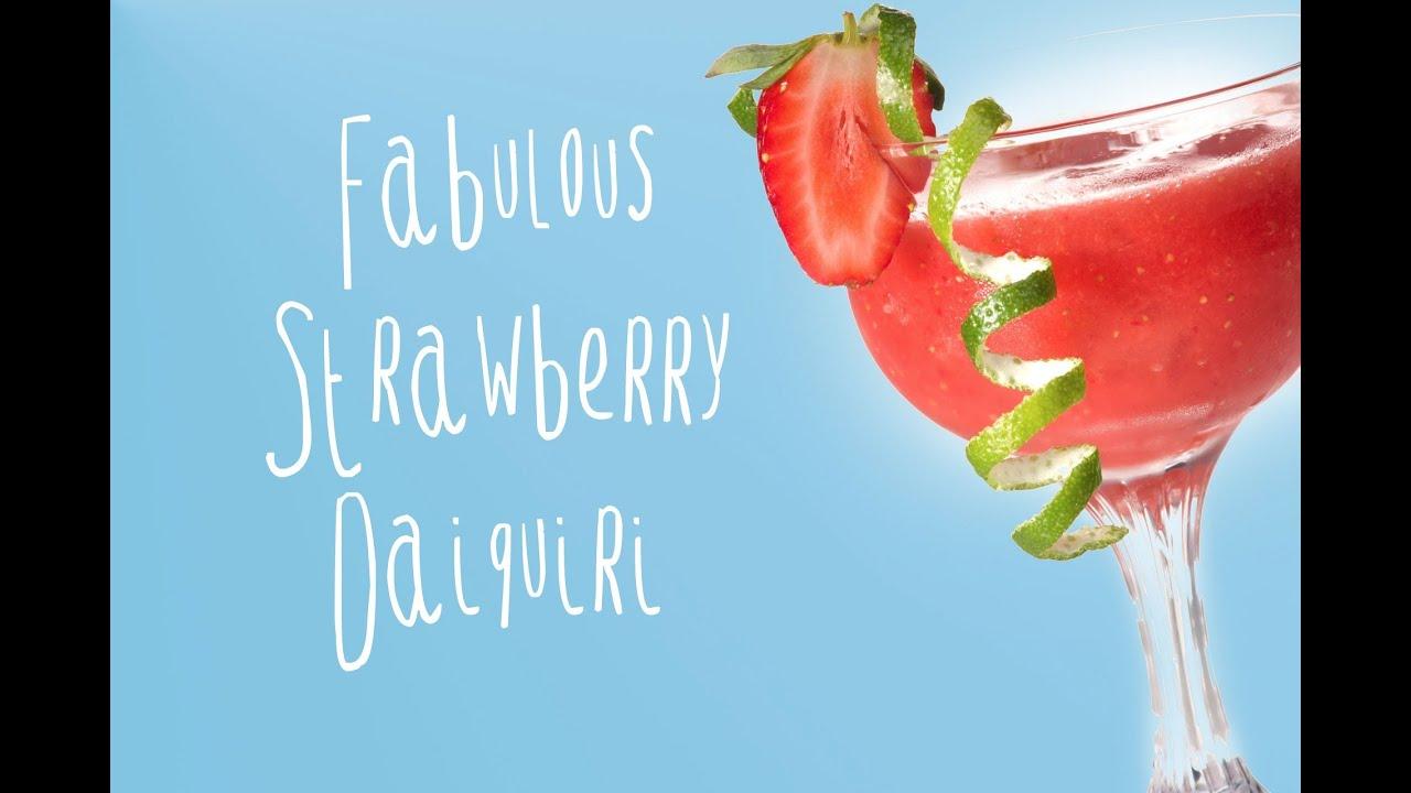 Strawberry daiquiri recipe, easy and delicious! - YouTube