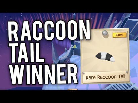 Raccoon Tail Giveaway Winner   AJPW