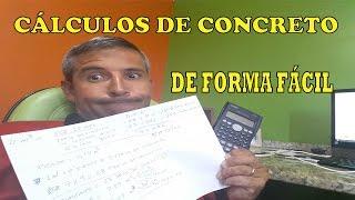 CÁLCULO DE CONCRETO DE FORMA FÁCIL (USINADO E TRAÇO DE BETONEIRA DE UMA LAJE)