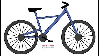 How To Draw a Bicycle Step by Step Easy For Kids