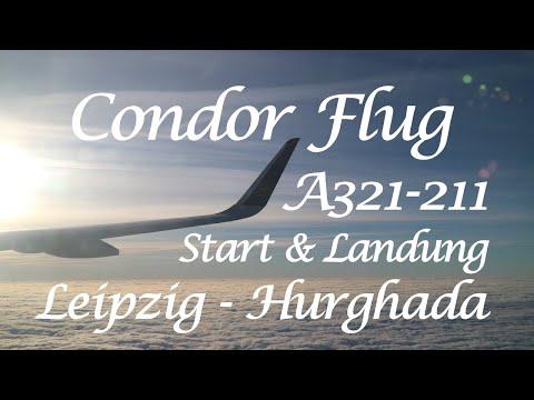 Condor A321 Flug DE 238 Start Landung flight landing | Leipzig - Hurghada | Airbus A321-211