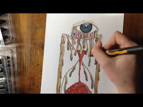 Coloring The Hourglass Drawing