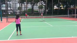OFW  doubles  tennis games  in Hong  Kong