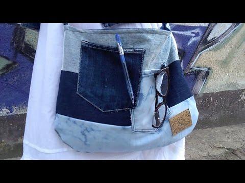 DIY torba ze starych jeansów :)